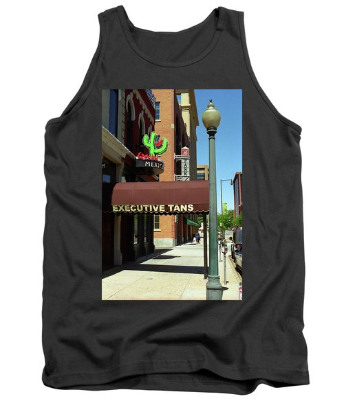 Tank Top featuring the photograph Denver Downtown Storefront by Frank Romeo