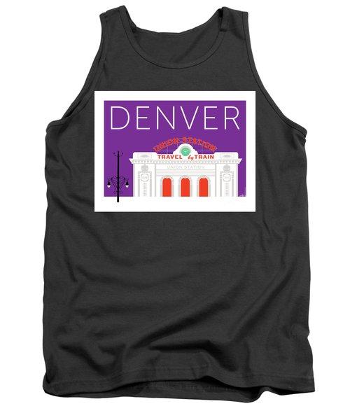 Denver Union Station/purple Tank Top