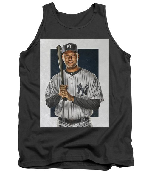 Derek Jeter New York Yankees Art Tank Top by Joe Hamilton