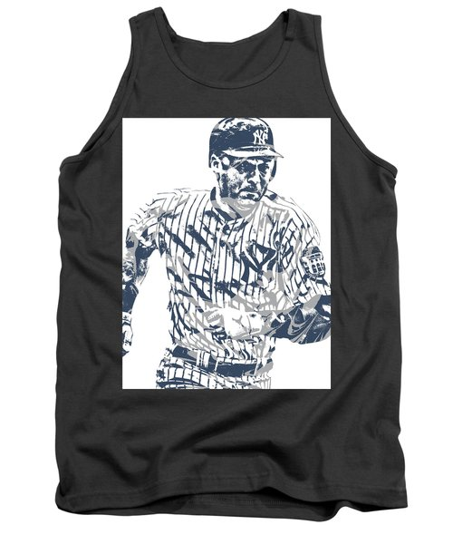Derek Jeter New York Yankees Pixel Art 12 Tank Top