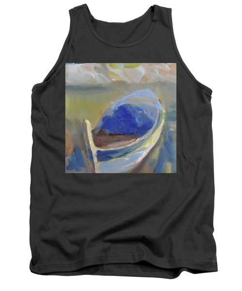 Tank Top featuring the painting Derek's Boat. by Julie Todd-Cundiff