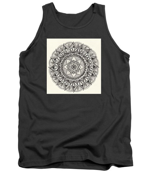 Des Tapestry Medallion Tank Top by Kathy Sheeran