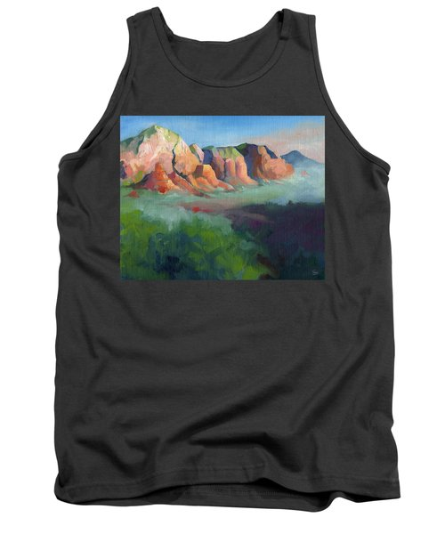 Desert Afternoon Mountains Sky And Trees Tank Top