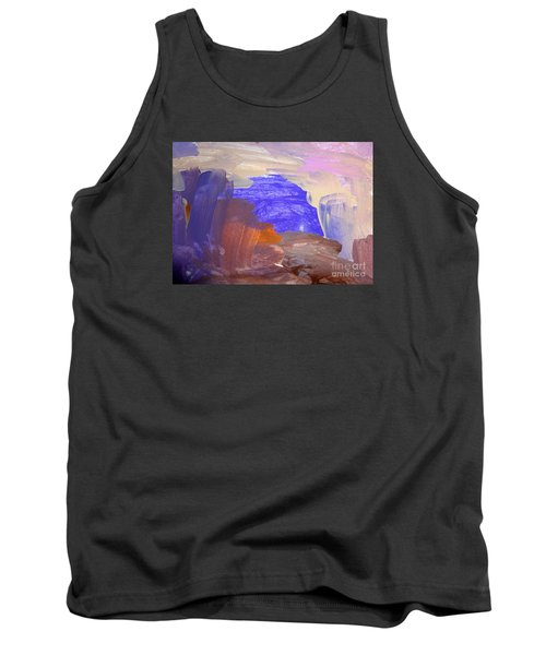 Tank Top featuring the painting Desert By Hannah by Fred Wilson
