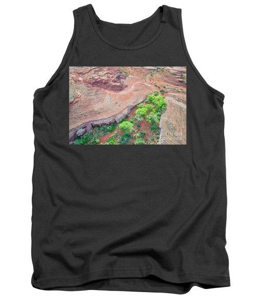 desert canyon in Utah aerial view Tank Top
