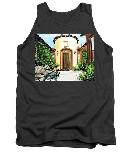 Tank Top featuring the painting Desert Getaway by Tom Riggs