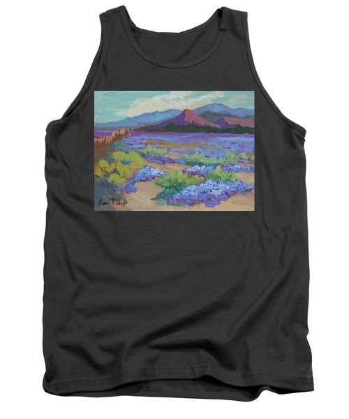 Tank Top featuring the painting Desert In Bloom by Diane McClary