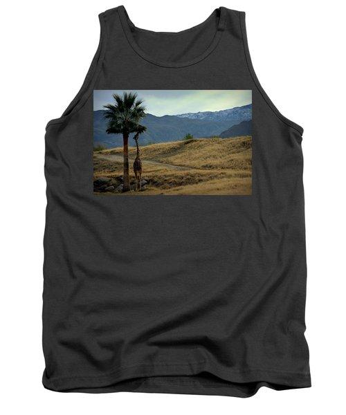Desert Palm Giraffe 001 Tank Top