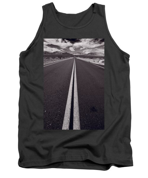 Desert Road Trip B W Tank Top