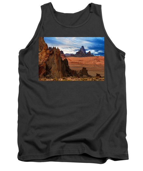 Tank Top featuring the photograph Desert Rocks by Harry Spitz