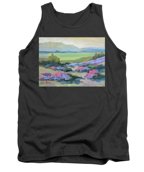 Tank Top featuring the painting Desert Verbena 1 by Diane McClary