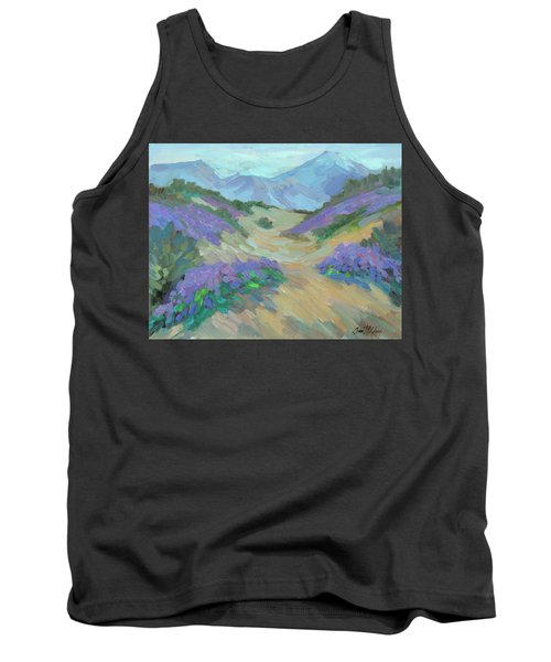 Tank Top featuring the painting Desert Verbena by Diane McClary