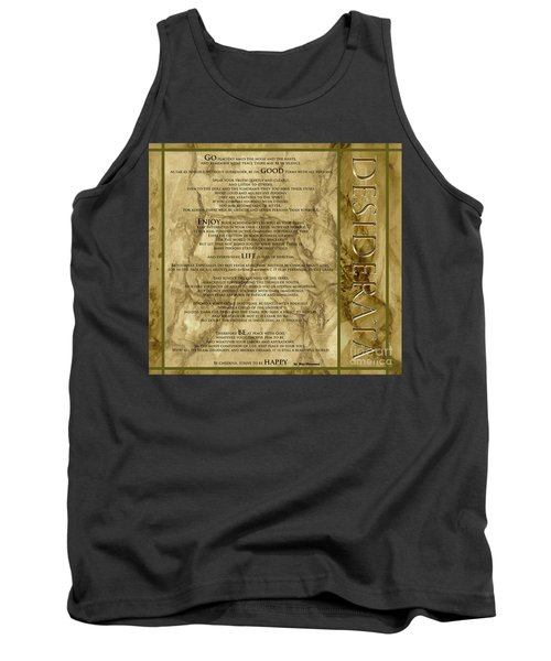 Desiderata #8 Tank Top by Claudia Ellis