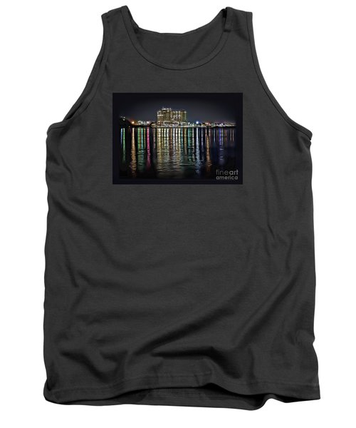 Destin Night Across The Estuary Tank Top by Walt Foegelle