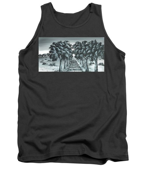 Tank Top featuring the painting Destination 2 by Kenneth Clarke