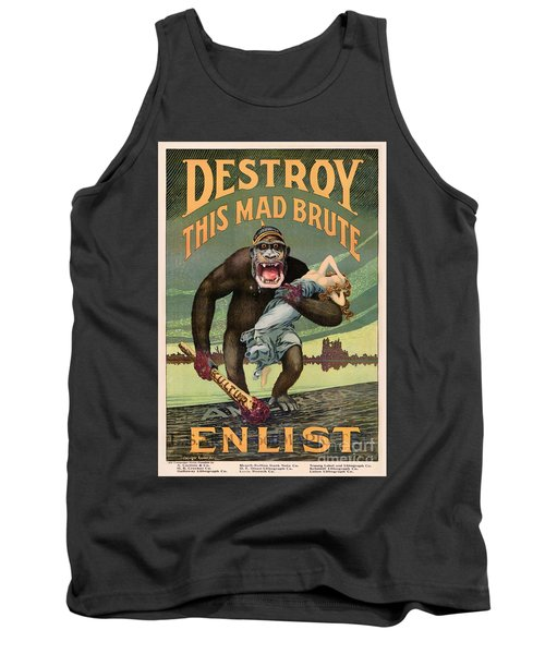 Destroy This Mad Brute - Restored Vintage Poster Tank Top