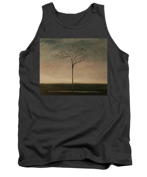 Tank Top featuring the painting Det Lille Treet - The Little Tree by Tone Aanderaa