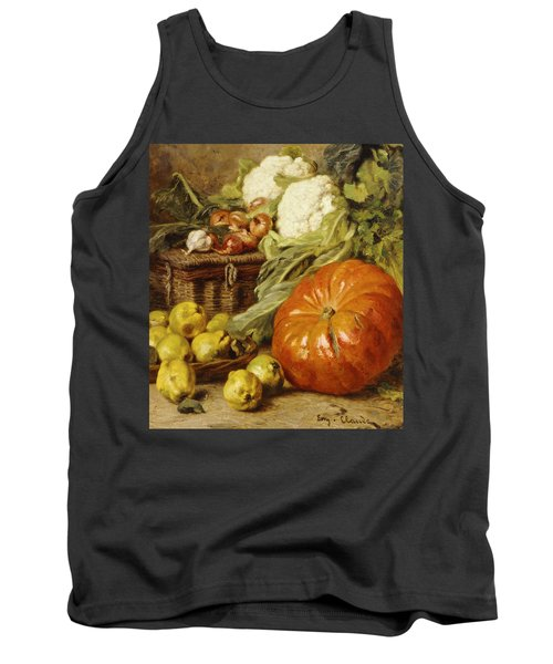 Detail Of A Still Life With A Basket, Pears, Onions, Cauliflowers, Cabbages, Garlic And A Pumpkin Tank Top