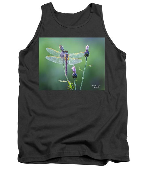 Dew Laden Dragonfly Tank Top