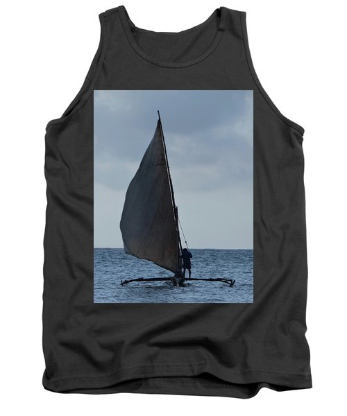 Dhow Wooden Boats In Sail Tank Top