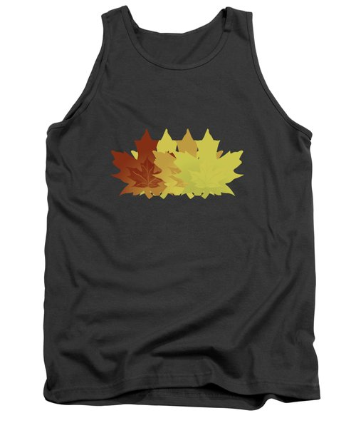 Diagonal Leaf Pattern Tank Top