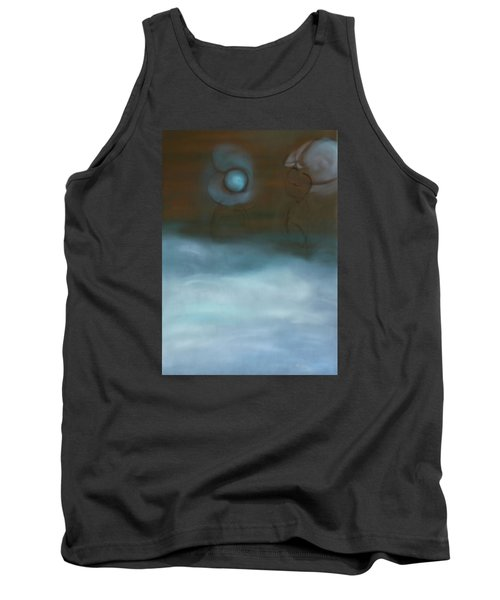 Tank Top featuring the painting Dialog by Min Zou
