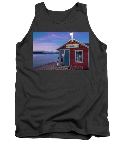 Tank Top featuring the photograph Dicks Lobsters - Crabs Shack In Maine by Ranjay Mitra