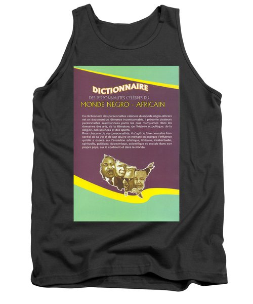 Tank Top featuring the painting Dictionary Of Negroafrican Celebrities 2 by Emmanuel Baliyanga