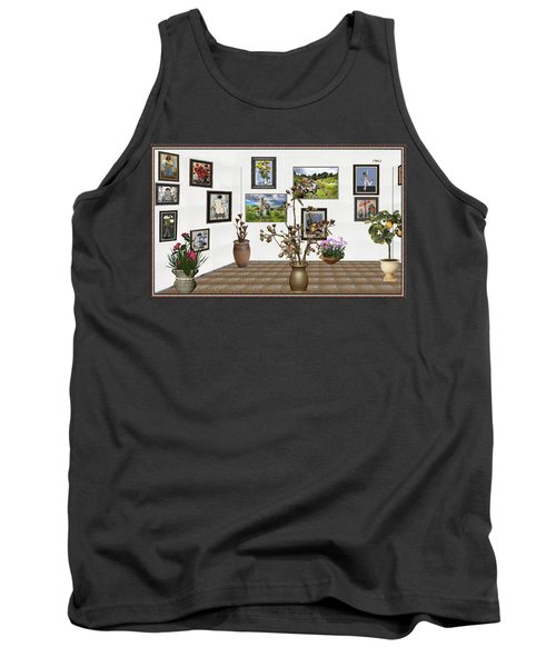 Tank Top featuring the mixed media digital exhibition _ Modern Statue of Modern statue of branches by Pemaro