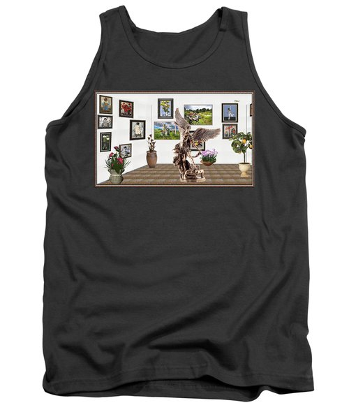 Tank Top featuring the mixed media digital exhibition _  sculpture of a Angels and Demons  by Pemaro