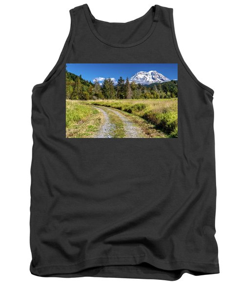 Dirt Road To Mt Rainier Tank Top