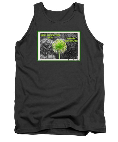 Tank Top featuring the digital art Dissatisfied With Himself by Holley Jacobs