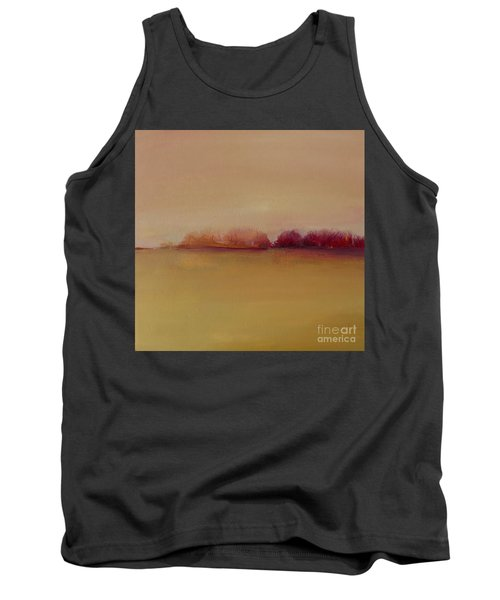 Distant Red Trees Tank Top