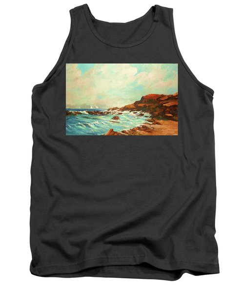 Distant Sails Of The Cove Tank Top by Al Brown
