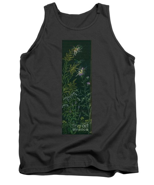 Ditchweed Fairies Goldenrod And Thistle Tank Top by Dawn Fairies