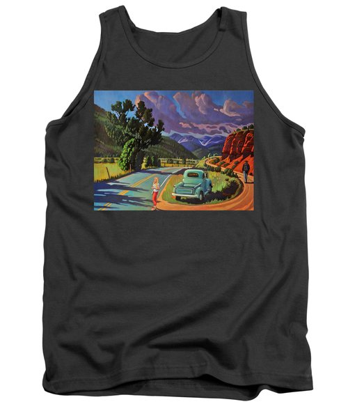 Tank Top featuring the painting Divergent Paths by Art West