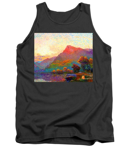 Tank Top featuring the painting  Buddha Meditation, Divine Light by Jane Small