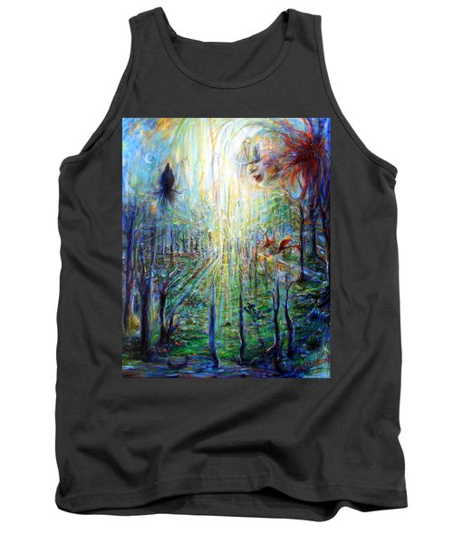 Tank Top featuring the painting Divine Mother Earth by Heather Calderon