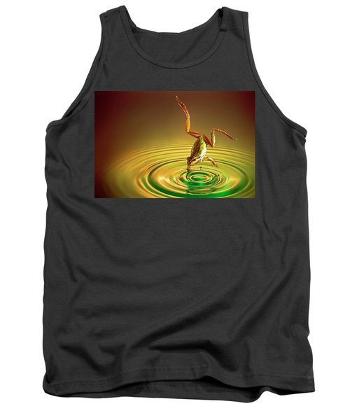 Tank Top featuring the photograph Diving by William Lee