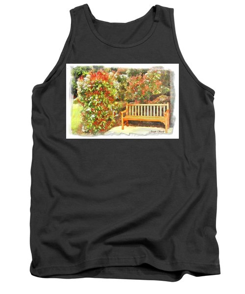 Tank Top featuring the photograph Do-00122 Inviting Bench by Digital Oil