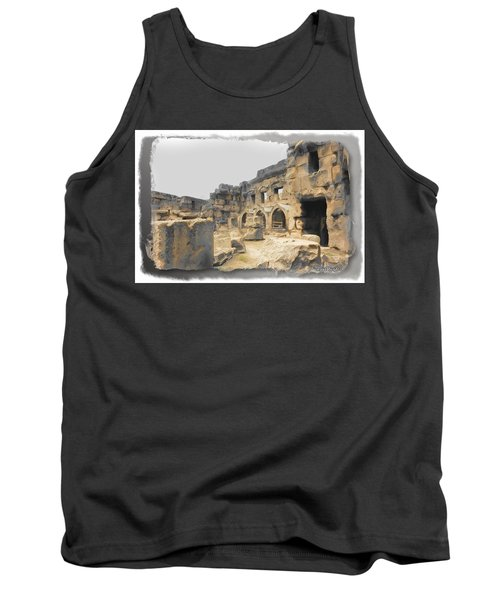 Tank Top featuring the photograph Do-00452 Inside The Ruins by Digital Oil