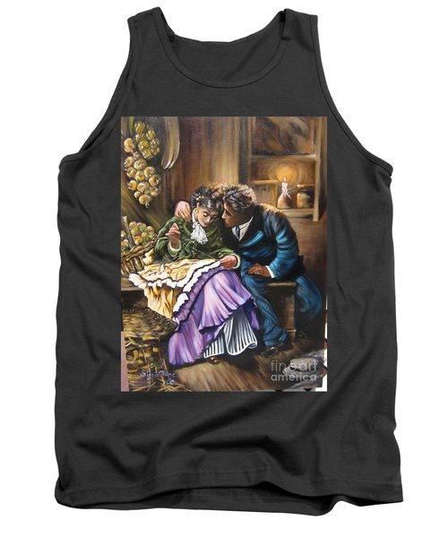 Tank Top featuring the painting American History    Will You Marry  Me? by Sigrid Tune