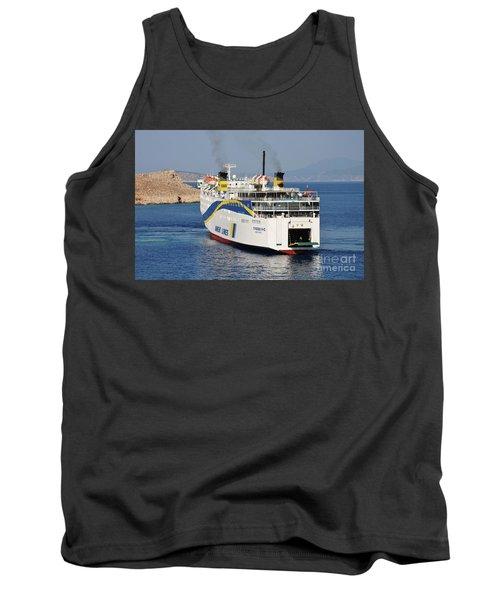 Docking Ferry On Halki Tank Top
