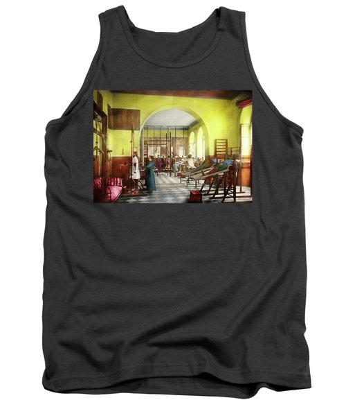Tank Top featuring the photograph Doctor - Physical Therapist - Welcome To The A Traction 1918 by Mike Savad
