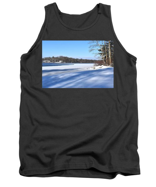 Dog Pond In Winter 1 Tank Top