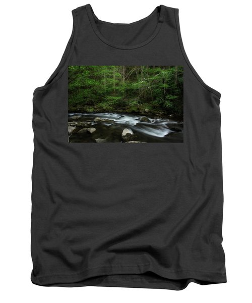 Tank Top featuring the photograph Dogwood Along The River by Mike Eingle