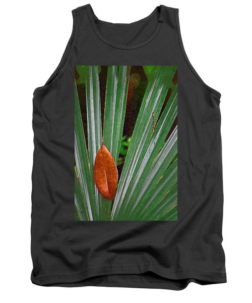 Tank Top featuring the photograph Don't Leaf by Donna Bentley