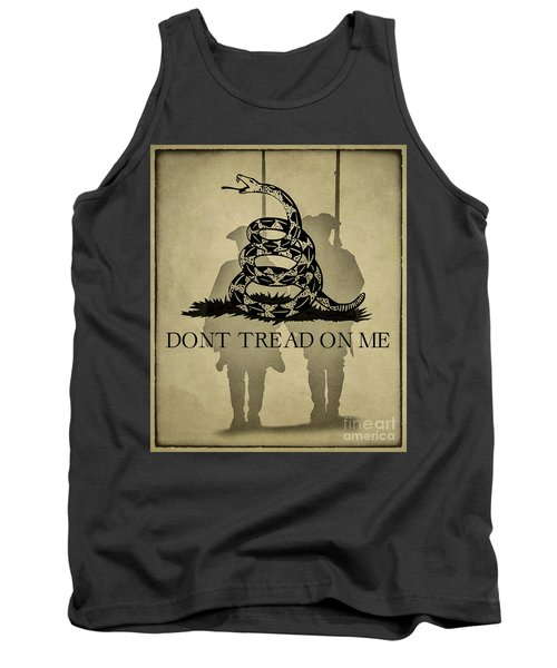 Don't Tread On Me   Rattlesnake Flag Tank Top by Randy Steele