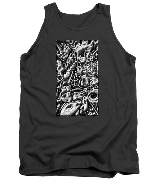 Tank Top featuring the digital art Doodle Emboss by Darren Cannell