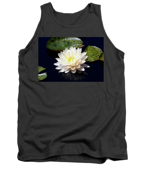 Dotty White Lotus And Lily Pads 0030 Dlw_h_2 Tank Top